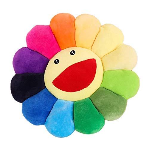 Smile Face Plush Pillow Cushion Mat Pillow Sofa Cushion Colorful Plush...