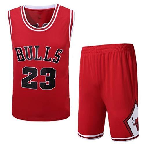 SHR-GCHAO Baloncesto Jersey Conjunto Masculino, Chicago Bulls # 23 De Malla para Jóvenes Sin Mangas Superior Respirable, De Secado Rápido Chaleco Deportes Tops Cortos,XXXL