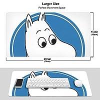 Moomin ムーミン マウスパッド 光学マウス対応 パソコン 周辺機器 超大型 防水 洗える 滑り止め 高級感 耐久性が良い 40*75cm
