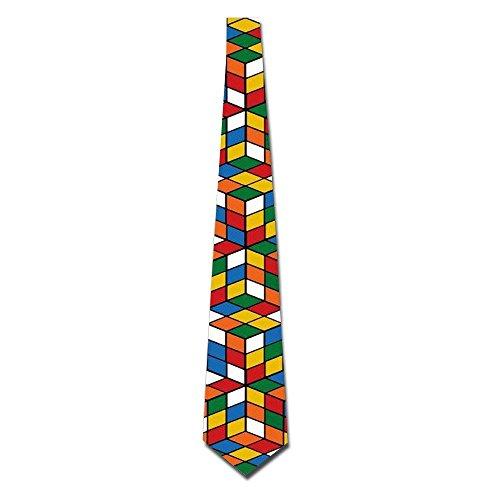 Meius Rubik's Cube World - Corbata para hombre, diseño divertido
