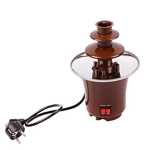 AIPZDJ 3 Tier Schokoladenbrunnen Maschine Elektrisch Schokoladenfondue Mini Schokoladen Wasserfall Hersteller Maschine zum Party Zuhause Hochzeit Geburtstag