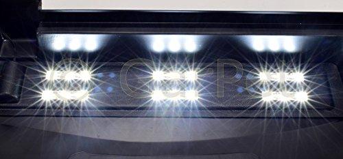 60×30 cm Aquarium Terrarium Abdeckung LED 6,48 W Beleuchtung schwarz 60 - 6