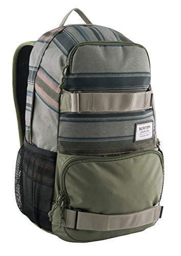 Burton Unisex Treble Yell Daypack, grün (Tusk Stripe Print), Einheitsgröße
