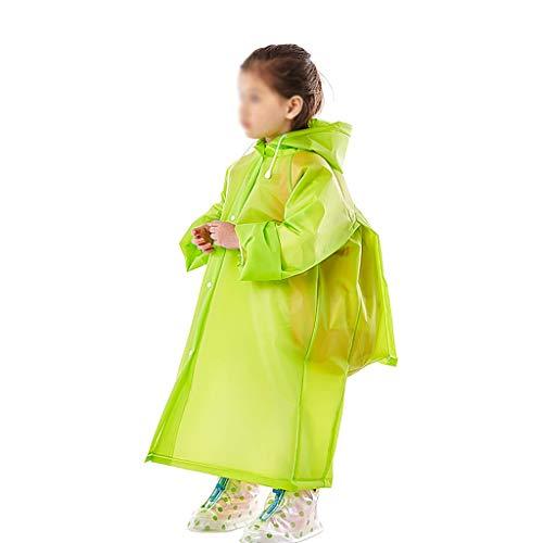 Z-Brand kinderregenjas regenjas voor kinderen schooltas Boy Girl regenjas kinderen poncho schattige unisex regenjas voor jongens en meisjes (kleur: D, maat: 74 * 49 * 56cm)