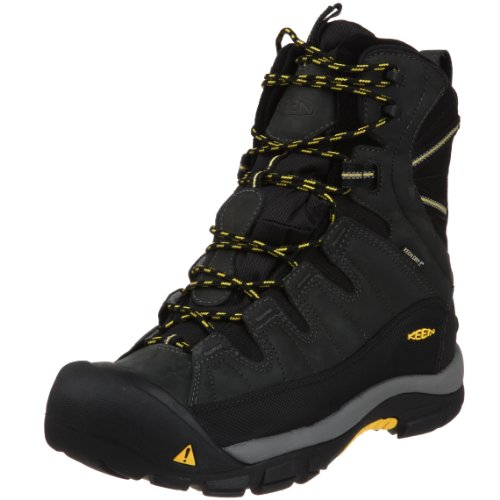 KEEN Men's Summit County Waterproof Winter Boot,Dark Shadow/Yellow,7 M US