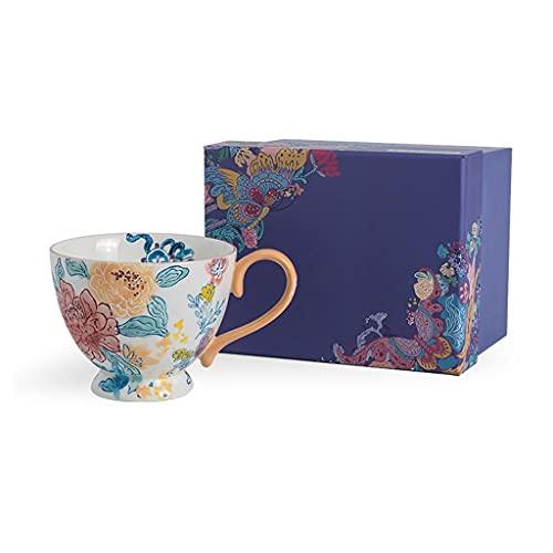 YHshop Taza de café Regalo De La Taza De Café, Estilo Chino Cerámica De Cerámica Pintado A Mano Pintado A Mano Taza Formilk Latte Coco Cacao Cereal Taza de Agua (Color : A)