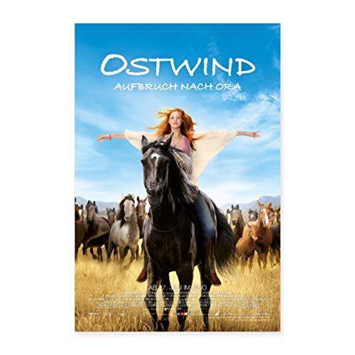 Spreadshirt Ostwind Aufbruch nach Ora Filmplakat Poster 40x60 cm, Weiß