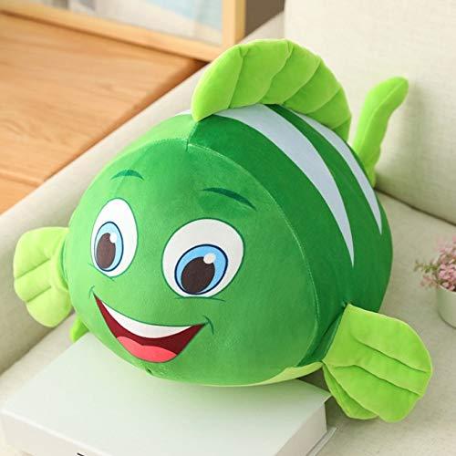 Animal de peluche Sea World pez payaso juguete de peluche suave pez feo muñeca almohada para la siesta juguetes de acompañamiento regalo de cumpleaños para niños niñas 35Cm