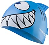 Aqua Speed Shark Gorro de natación + Toalla de Microfibra   niños   Gorras de baño Divertidos  tiburón   Silicona   Tiburón/Azul Claro 02
