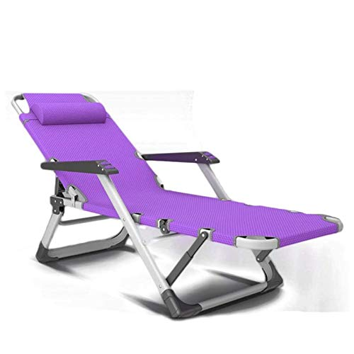 Tellgoy Folding Lounge Chair, Foldable Duty Metal Portable Relaxing Reclining Bed Portable for Outdoor Lawn Patio Beach Camping Furniture,A