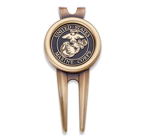 USMC Golf Divot Tool Plus Ball Markers - US Marine Corps Military Golf Ball Marker & Tool - Designed by Marines for Marines - Officially Licensed