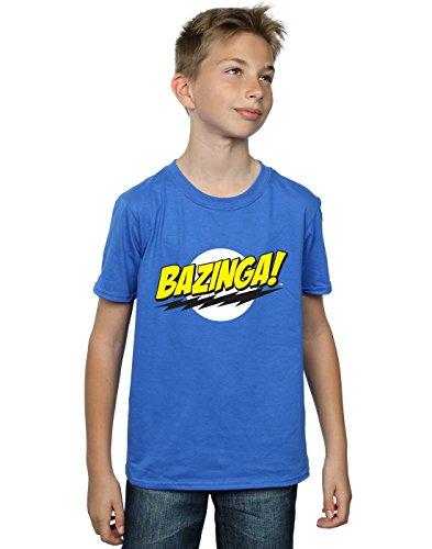 The Big Bang Theory Jungen Sheldon Bazinga T-Shirt Königsblau 5-6 Years
