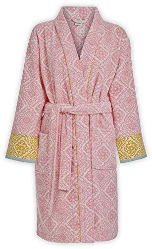 Pip Studio Bademantel Jacquard Check Farbe Rosa Größe L