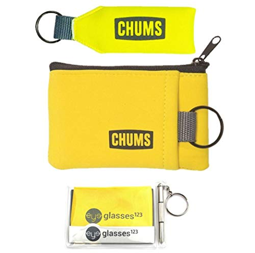 Chums Floating Neo Keychain and Floating Marsupial Wallet, w/Cloth & Screwdriver