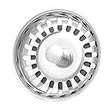 Fregaderos de Cocina universales Tapones Fregadero de Acero Inoxidable Tapa Dishpan Drainer Chock Plug Repuesto Filtro Cesta para el hogar, Color Acero