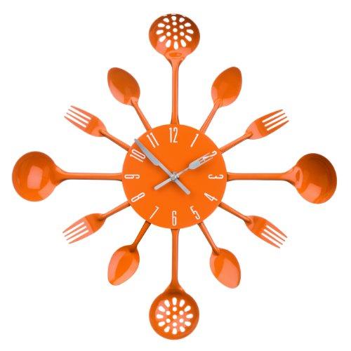 Premier Housewares - Reloj de pared, diseño de cubiertos, c