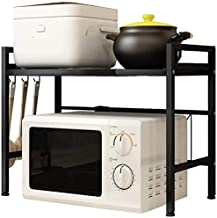 Microondas capa 2 de marco puede ser caja de la cocina marco de acero microondas de almacenamiento de almacenamiento prolongada,Grey