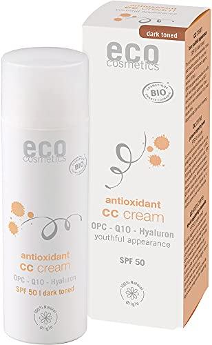 eco cosmetics CC Creme LSF 50 dunkel mit OPC, Q10 und Hyaluron (2 x 50 ml)