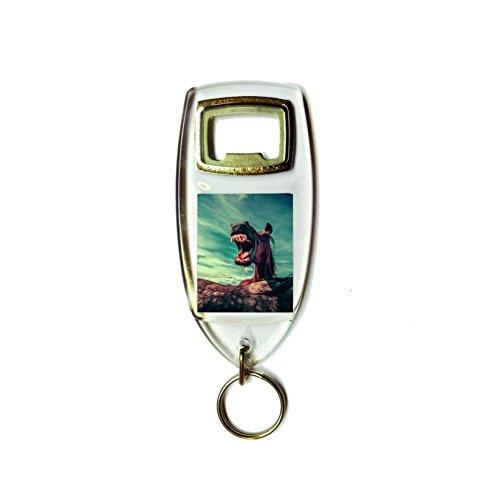 Lachend paard retro shabby chic vintage stijl acryl sleutelhanger sleutelhanger en flesopener
