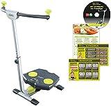 Twist & Shape Bauch Bein Po Trainer 240 Grad Rotation Ganzkörpertrainer inkl Ernährungsplan Übungsplan und DVD Mediashop