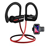 Tenergy T20 Wireless Bluetooth Headphones, IPX7 Sweatproof, Running Earphones, Noise Canceling 8-Hour Working Time, in-Ear Bluetooth V4.1 Stereo Earbuds with Mic, Bonus Sport Armband