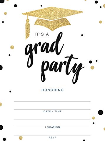 Invitations for Graduation Party - 20 Cards with Envelopes