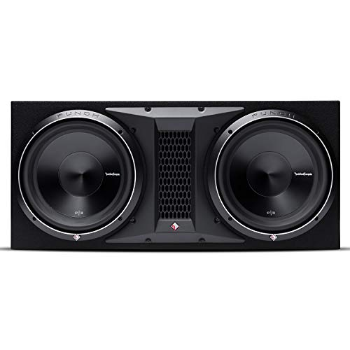 "Rockford Fosgate P3-2X12 Punch Dual P3 12"" Loaded Enclosure Ported Subwoofer"