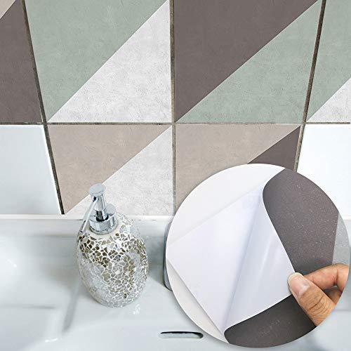 Pegatinas de Azulejos a Prueba de Agua Norte de Europa Moderno Simple Simple Herringbone Estilo Tile Paste Dormitorio Cocina Sala de Estar Papel Tapiz (Color : TS041, Size : 10cmx10cm)