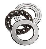 NTN Bearing 51122 Thrust Ball Bearing, Extra Light Series, Single Direction, Flat Seat, Steel Cage, 110 mm Bore ID, 145 mm OD, 25 mm Width, Open