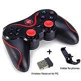 gamepad gamepad senza fili nera con bluetooth regolatore del gioco della barra di comando for android ios cellulari pc turbo maniglia qplntcq (color : c, size : 1)