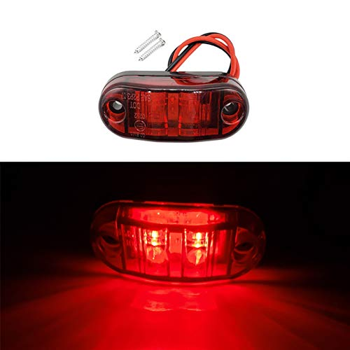 DQSM Señales de Giro de Motocicletas 12V 24V LED Marcador Lateral luz luz Externa Advertencia de la luz de la luz de la luz de la luz de la luz de la luz (Color : Red)