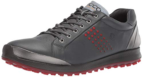 ECCO Men's Biom Hybrid 2 Hydromax Golf Shoe, Dark Shadow Yak Leather, 9-9.5