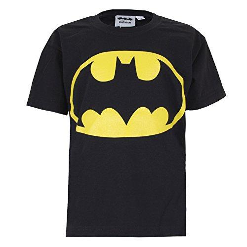 DC Comics Jungen Batman Logo T-Shirt, Schwarz (Black), Jahre (Herstellergröße: 5-6 Years)