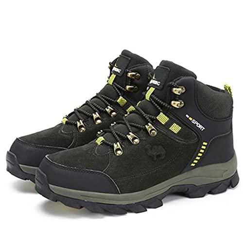 Zapatos de Senderismo Waterproof Botas de montaña Ante Impermeables para Hombre e Mujeres Antideslizante Ligero Respirable Talla Grande Trekking Calzado (Color : Green, Size : 40EU)
