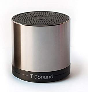 Advanced TruSound Audio T2 Portable Bluetooth Wireless Speaker, Speakerphone | Loud, Crystal Clear 360 Degree Stereo Sound | Noise & Echo Cancelling Microphone | Hands-Free Call | 1000hz @80db, Metal