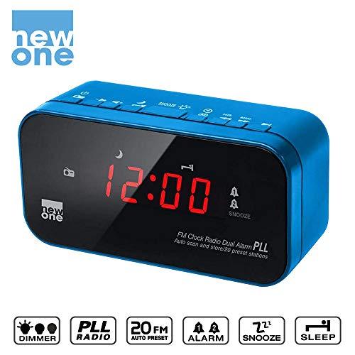 New One CR120 Radio/Radio-réveil Bleu