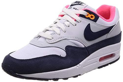 Nike Wmns Air MAX 1, Zapatillas de Running para Mujer, Multicolor (White/Midnight Navy/Pure Platinum 116), 36.5 EU