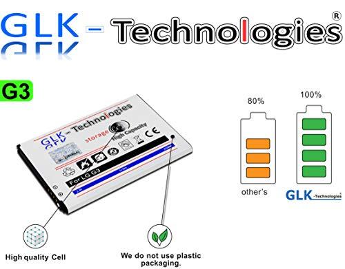 High Power Ersatzakku für LG G3 D855 D690 D830 D850 D851 LTE | Original GLK-Technologies Battery | accu | 3100mAh Akku | 2020 B.j