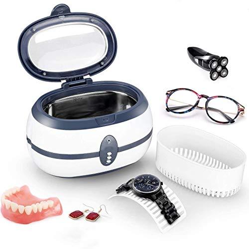 VISZC Ultraschall Schmuck Reiniger, 600ML Ultraschall Reiniger Maschine Ultraschall Reiniger Reinigung für Schmuck Brillen Halsketten Ringe Uhren Münzen Teile