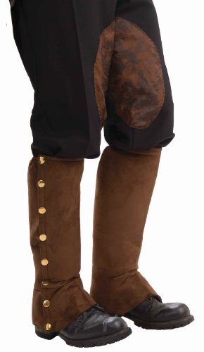 Forum Novelties mens teen boys Adult Steampunk Suede Spats Costume Accessory, Brown, One Size US