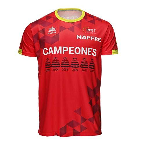 Luanvi Camiseta Manga Corta Tenis CAMPEONES Copa Davis 19