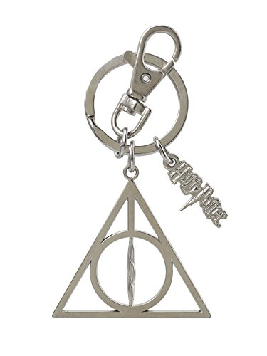 Monogram Harry Potter Deathly Hallows Pewter Key Ring