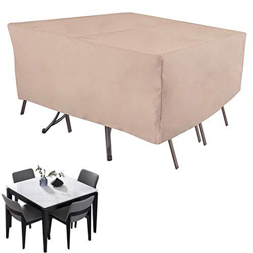 ZCED Funda Muebles Jardín Cubierta De Protección para Mesa Muebles Mpermeable 210D Oxford para Sofa De Jardin Patio Al Aire Libre Funda para Sofa De Esquina Mesa Y Sillas,270x180x89cm(106x71x35in)