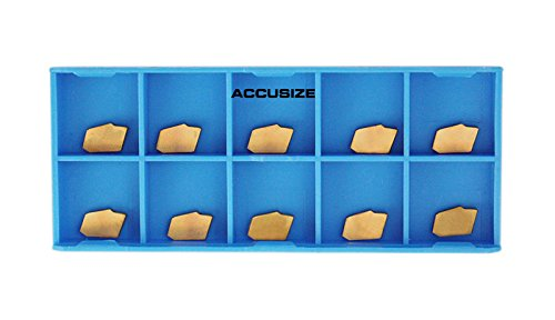 Accusize Industrial Tools Gtn-2 Tin Coated Carbide Inserts, 10 Pcs/Box, 2403-2003x10