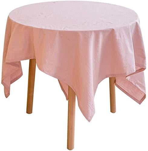 QL Mantel liso elegante y lujoso, de tela de algodón y lino, pequeño mantel fresco, mantel redondo de calidad rectangular (color: D, tamaño: 140 x 220 cm)