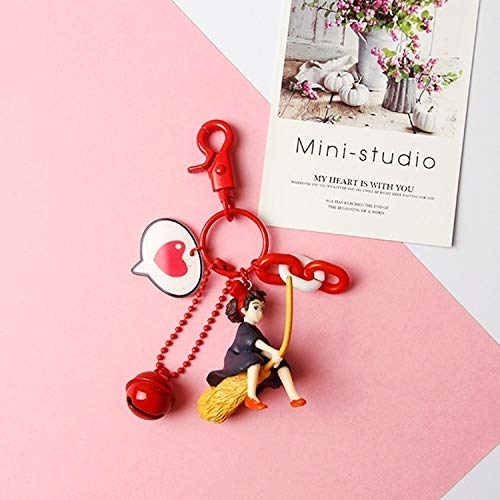 LKITYGF Anillos de Llave 2020 DIY DIRO DIROMEJO Japón Anime Mujeres Corazón Tinket Metal Llavero Cadenas Anillo Bolsa de Coche Pendiente Encanto Airpods ACCEOSSORIOS (Color : Red Heart)