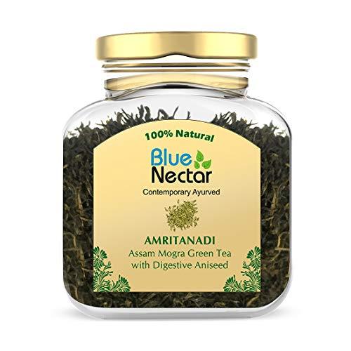 Blue Nectar Amritanadi Assam Loose Green Tea Leaves (50 g + 15 g Free | 30-33 Cups) (Digestive Aniseed)