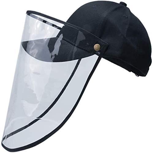 Dxgvdgdfgd Gesichtsschutzschilde Baseball-Mütze Anti-Fog-Winddichtes Schutzhaube Anti-Spucken Gesichtsschutz mit abnehmbarem Visier UV-Schutz Transparent Schutzvisier Mann Einer Frau