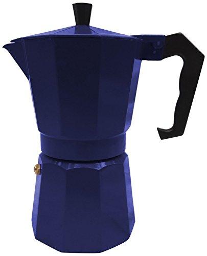 Innova Italian Espresso Stove Top Coffee Maker Continental Moka Percolator Pot, 1 Cup, Blue