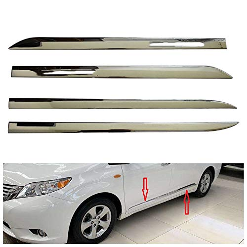 labwork Outside Door Body Side Molding Chrome Trim Replacement for Toyota Sienna 2011-2020
